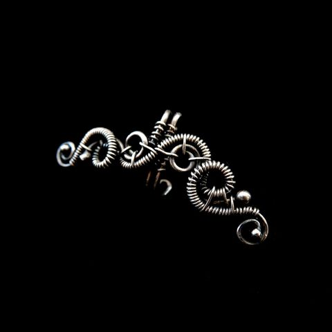 Sterling,Silver,Swirl,Ear,Cuffs,by,Mayahandmade,sterling silver, ear cuffs, wire wrapped, 925 silver, cartilage earrings,