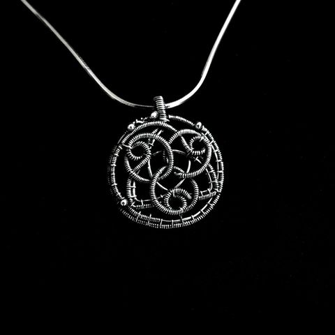 Sterling,Silver,Celtic,Pendant,by,Mayahandmade,celtic pendant, sterling silver, silver pendant, triquetra pendant, triquetra knot, celtic knot, wire wrapped, handmade, mayahandmade
