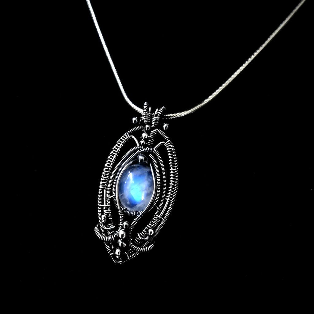 Gothic style pendant with moonstone by mayahandmade mayahandmade gothic style pendant with moonstone by mayahandmade aloadofball Gallery