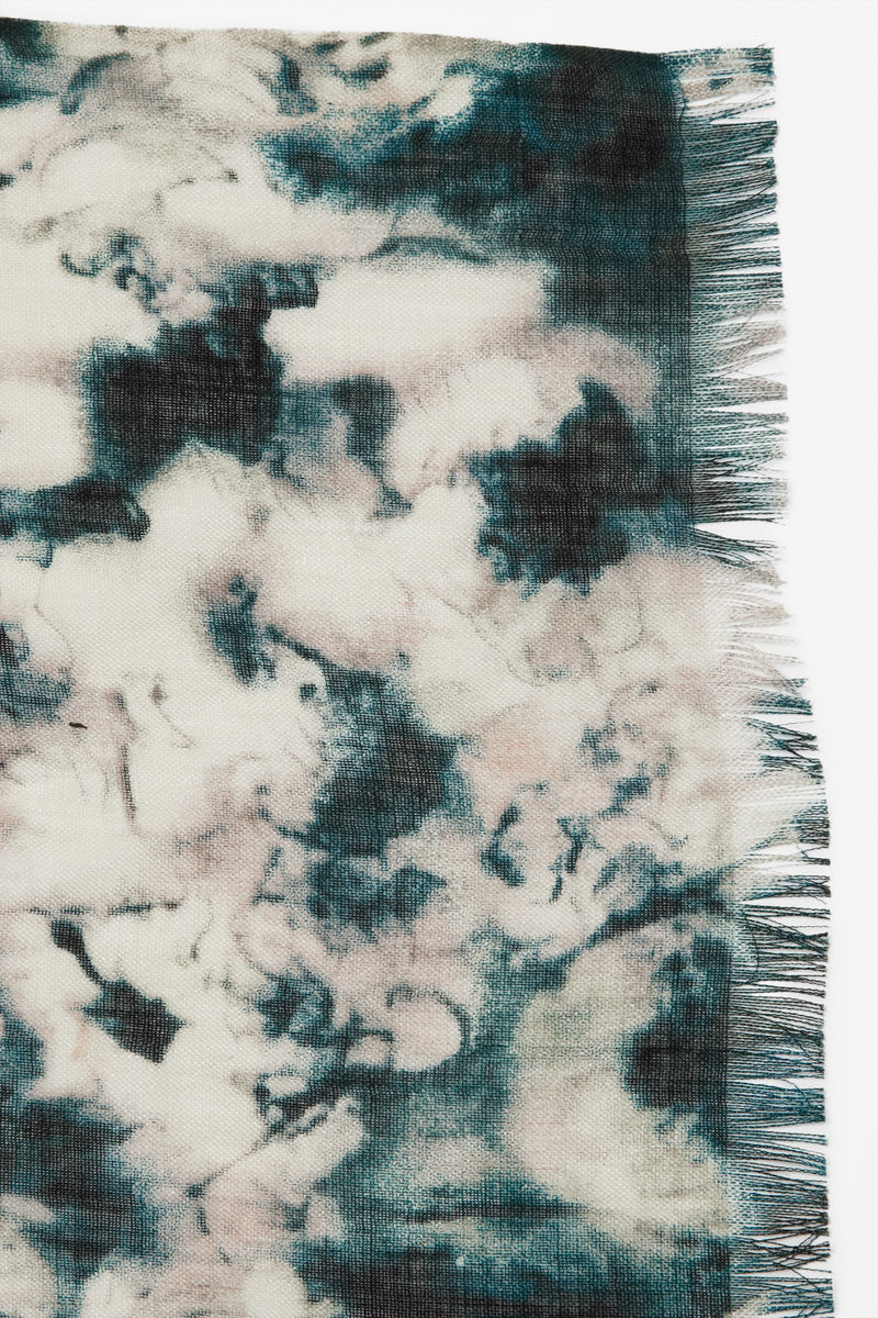 WOOL AND SILK PRINT SCARF - product images  of