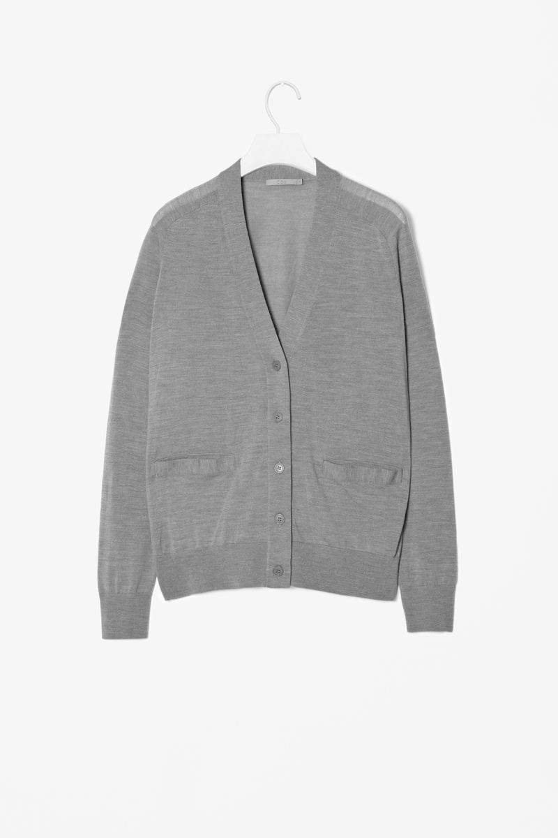 WOOL AND SILK CARDIGAN  - product images  of