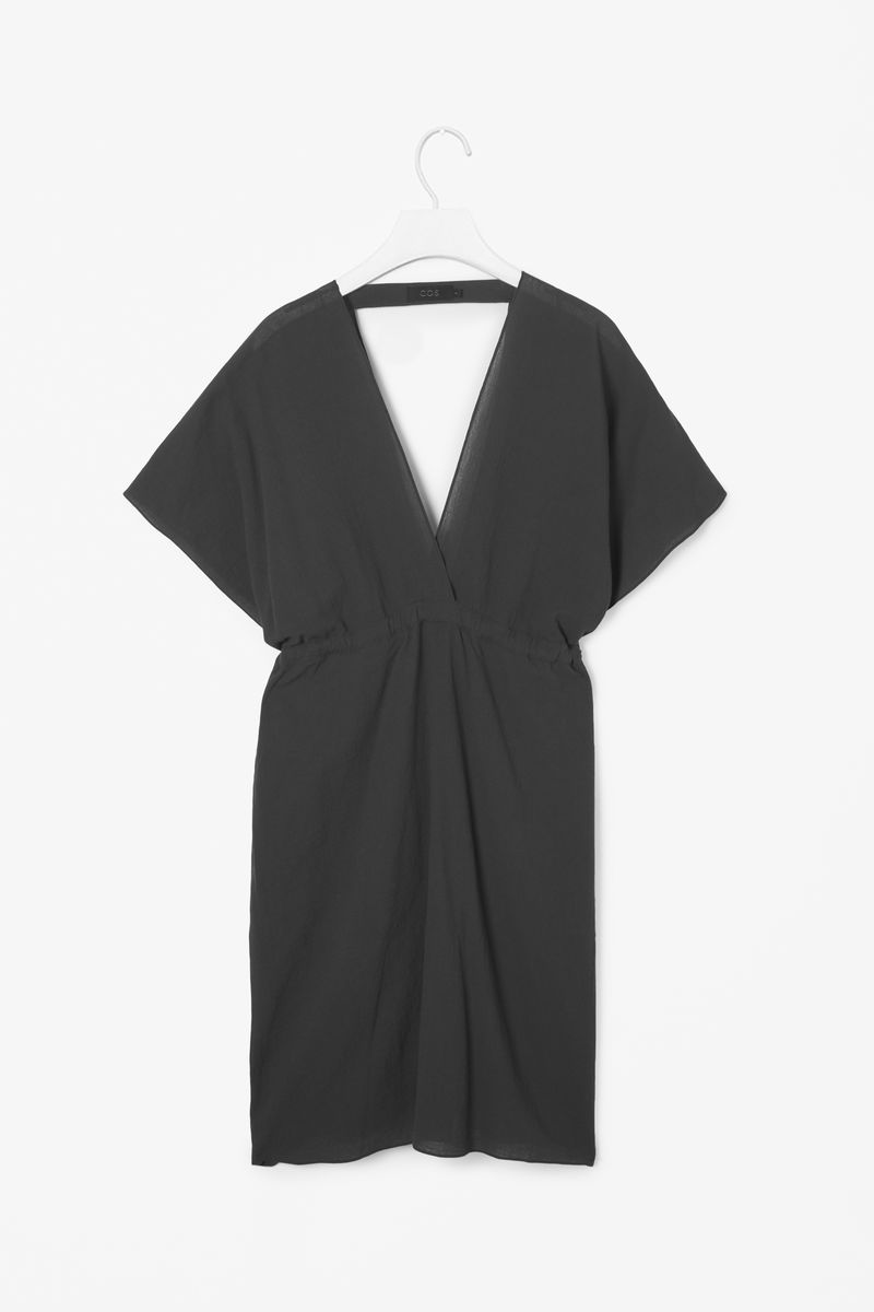 V-NECK DRAWSTRING DRESS  - product images  of