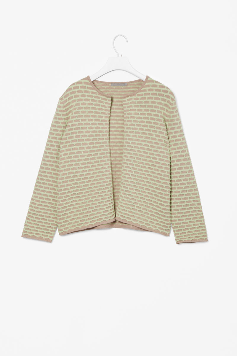 TEXTURED KNIT CARDIGAN  - product images  of
