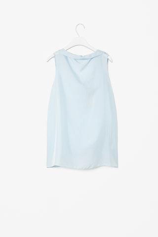 SILK,BOAT-NECK,TOP