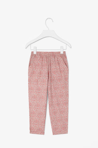 PRINTED,COTTON,TROUSERS