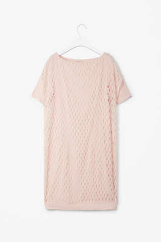 PERFORATED,LAYER,DRESS