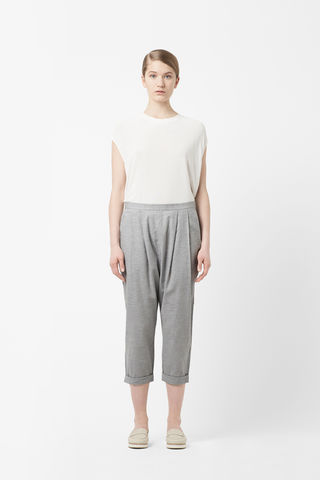 CROPPED,PLEAT,TROUSERS