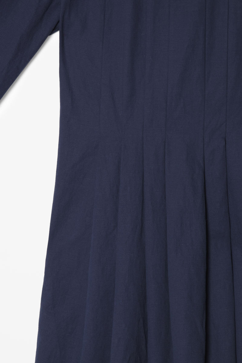 COTTON-MIX PLEAT DRESS  - product images  of