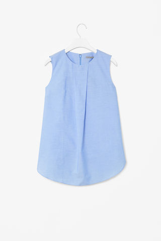 COTTON,BOX,PLEAT,TOP