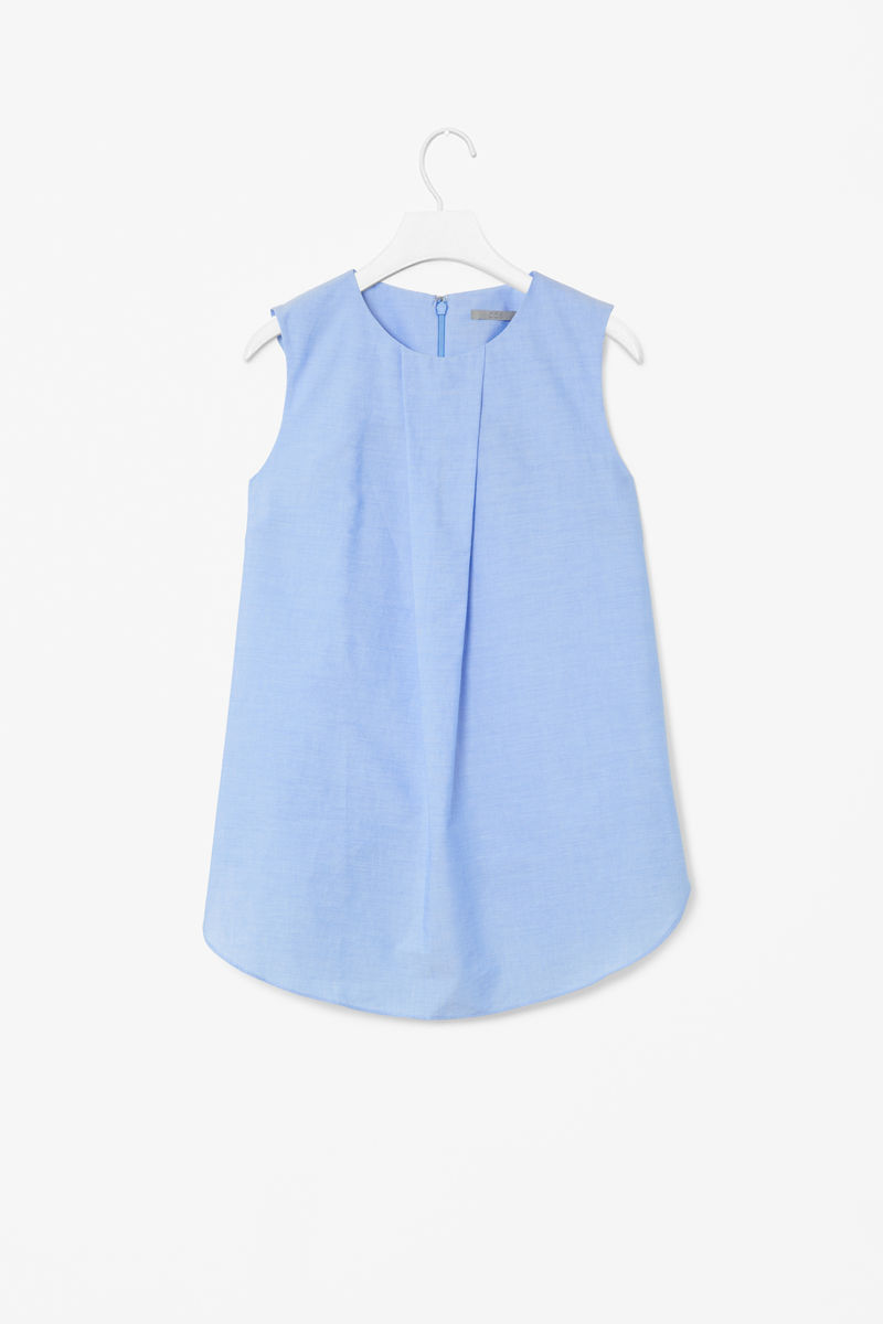 COTTON BOX PLEAT TOP  - product images  of