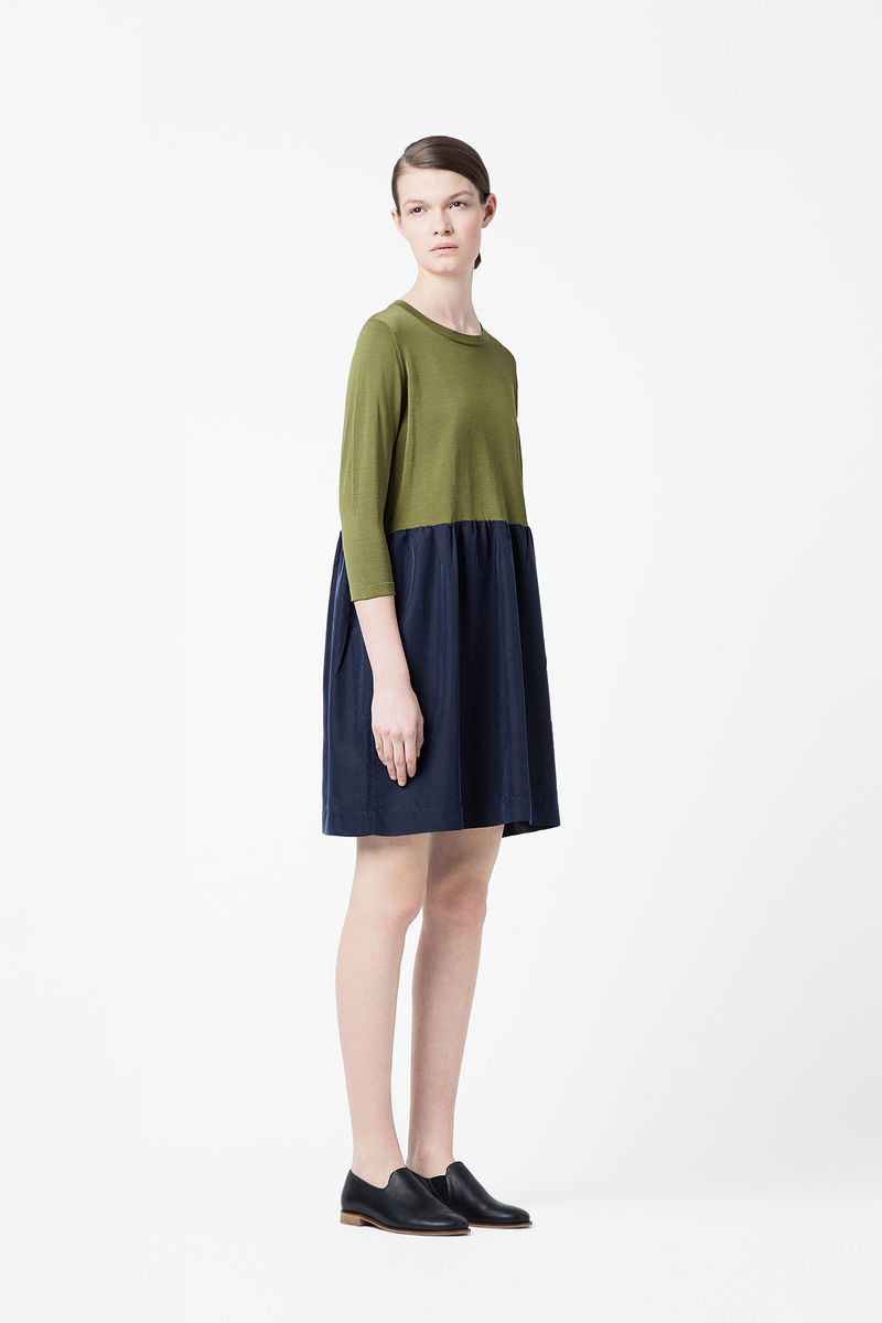 3/4 SLEEVE KNIT DRESS  - product images  of