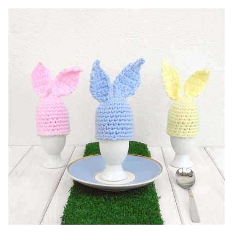 Hand,Crochet,Pastel,Bunny,Rabbit,Egg,Cup,And,Cosy,Egg Cosy, Egg Cup, Eggs. Home Decor, Egg Cosy and Egg Cup - Crochet Rabbit Cosy - Easter Egg Cozy - Egg Cup Cosy - Chocolate Egg Cosy - Pastel Egg Cosy - Pink Egg Cosy