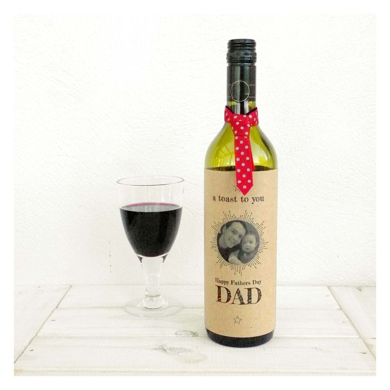 A Toast To You Dad Fathers Day Bottle Card - product images  of