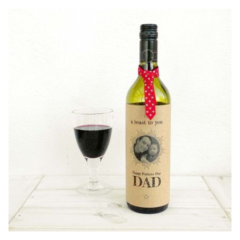 A,Toast,To,You,Dad,Fathers,Day,Bottle,Card,Bottle Card Accessory, Wine Bottle, Fathers Day