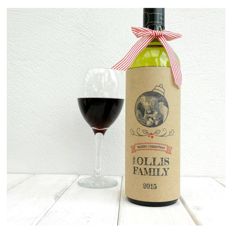 Love,From,The,Family,Christmas,Wine,Bottle,Card,Bottle Card Accessory, Wine Bottle, Birthday