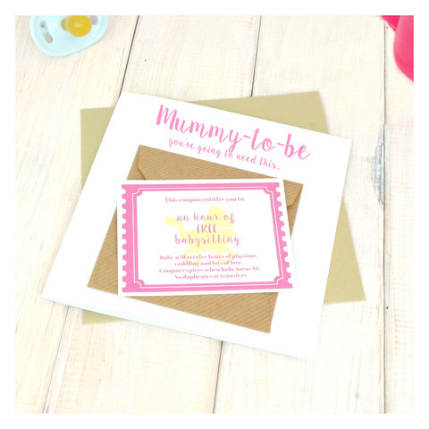 New,Mummy,Babysitting,Coupon,Congratulations,Card,Baby sitting coupon - coupon card Babysitting Coupon Card - New Mummy Card - Congratulations Card - New Baby Card - New Parents Card - New Arrival Card - Baby Shower Card
