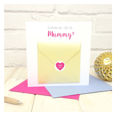 10,Things,I,Love,About,You,Mum,Greetings,Card,Greetings Card. Mothers Day Card. Card. Personalised card, Birthday Card Mum - 10 Things I Love About You Mum - Mothers Day Card - Blank Inside Card - Birthday Card - Personalised Card - Grandma Card