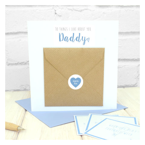 10,Things,I,Love,About,You,Dad,Greetings,Card,Greetings Card. Fathers Day Card. Card. Personalised card Dad Birthday Card - 10 Things I Love About Dad Greetings Card - Stepdad Birthday Card - Father Birthday Card - Personalised Dad Card