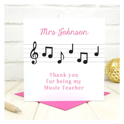 Thank,You,Music,Teacher,Personalised,Card,Thank You Music Teacher Personalised Card, Thank You Cards, Music Teacher Card, Teacher Card, Cello Teacher Card, Thank You Teacher, End of Term Card, End of School Card, Trumpet Teacher Card, Violin Teacher Card, Personalised Card, Thank You Lessons, Cus