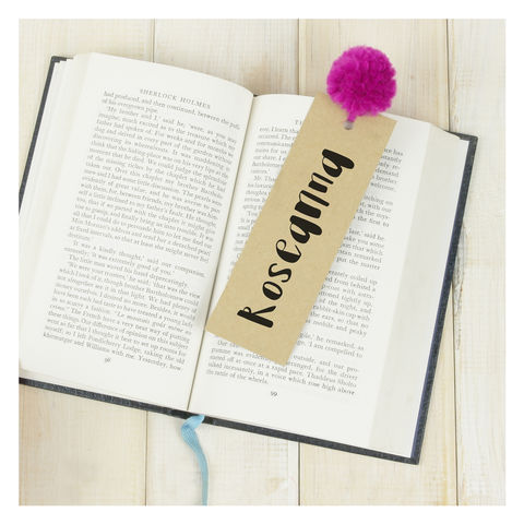 Personalised,Pom,Bookmark,Personalised Pom Pom Bookmark