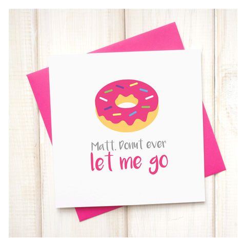 Personalised,Donut,Ever,Leave,Me,Emoji,Card,Personalised Donut Ever Leave Me Emoji Card