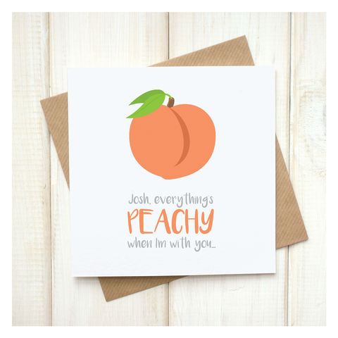 Personalised,Everything's,Peachy,Emoji,Card,Personalised Everything's Peachy Emoji Card