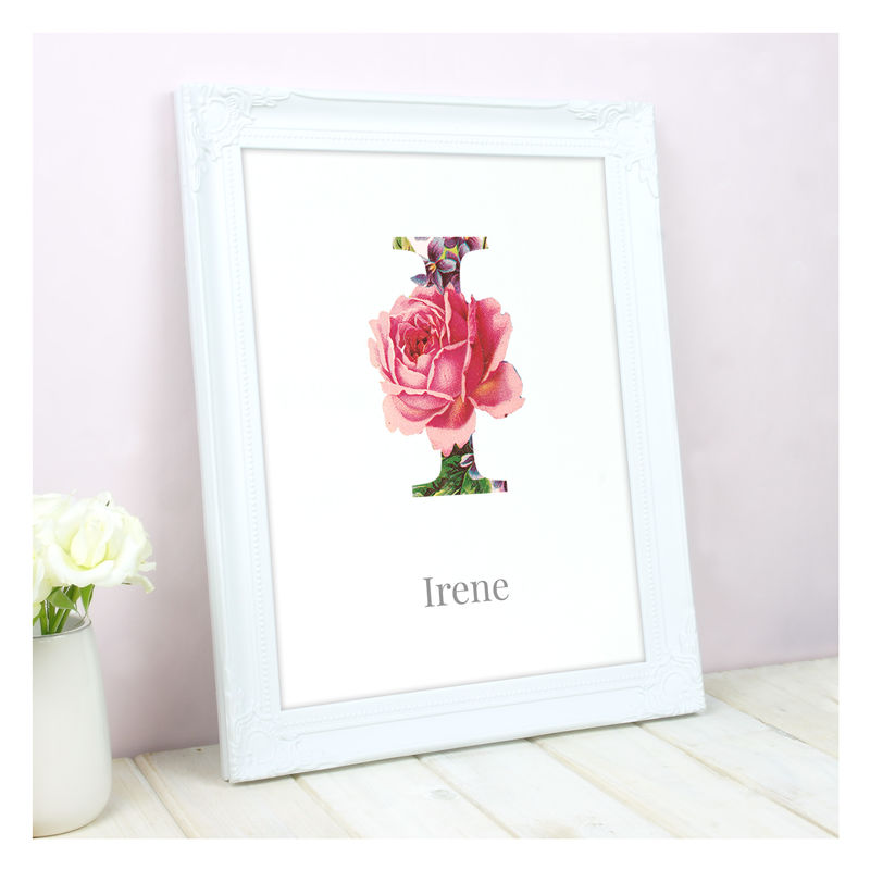 Personalised Floral Initial Name Print - product images  of