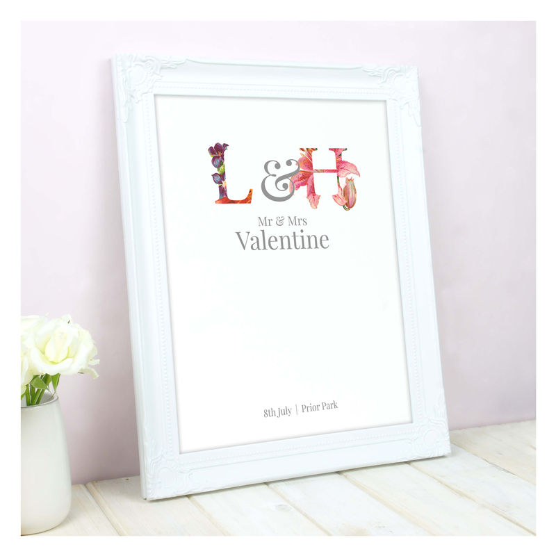 Personalised Floral Wedding Print - product images  of