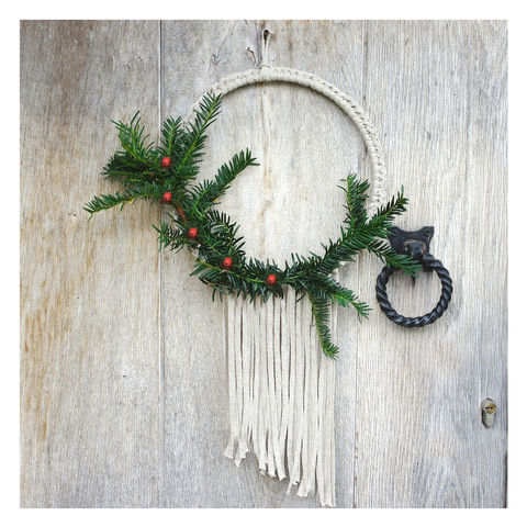 Fringed Christmas Wreath - product images  of