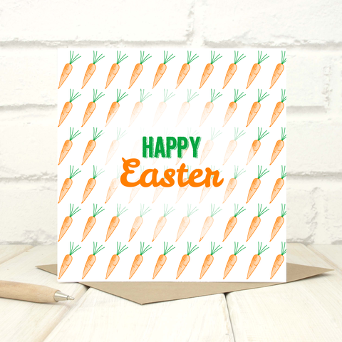 Carrots,Easter,Greetings,Card,Carrots Easter Greetings Card - Easter Card -Greetings Card - Easter Greetings Card -Happy Easter Card - Happy Easter