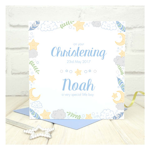 Personalised,Boys,Christening,Card,Personalised Boys Christening Cards - Christening Card - Christening - Christening Ceremony