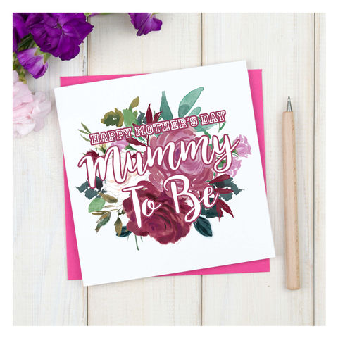 Personalised,Mummy,To,Be,Mothers,Day,Card,Personalised Bouquet Mummt  to be Mothers Card - Mothers Day - Stepmum Card - Mother Card- Mum - Mother - Greetings Card