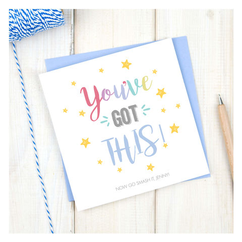 You've,Got,This,Personalised,Encouragement,Card,You've Got This Personalised Encouragement Card - Good Luck - You've Got This - Student Card - Student - Exam - Passed Exams - New Driver
