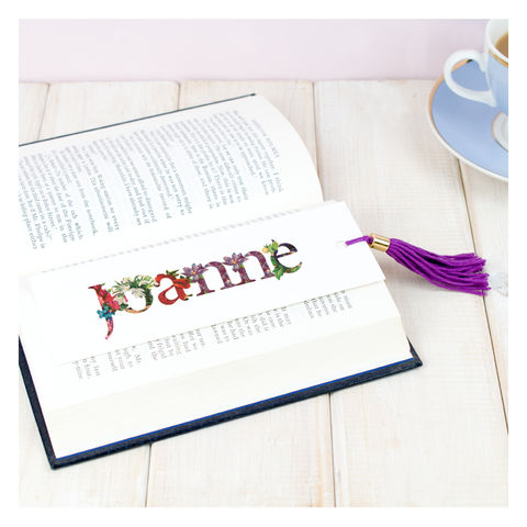 Personalised,Floral,Bookmark,For,Her,Personalised Floral Bookmark For Her - Gifts for her - Birthday gift - Book - Bookmark - Tassles - Tassle Bookmark -For Her - For Mum