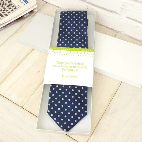 Personalised Thank You Teacher Tie - product images  of