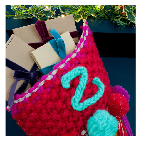 Personalised Chunky Knit Christmas Stocking - product images  of