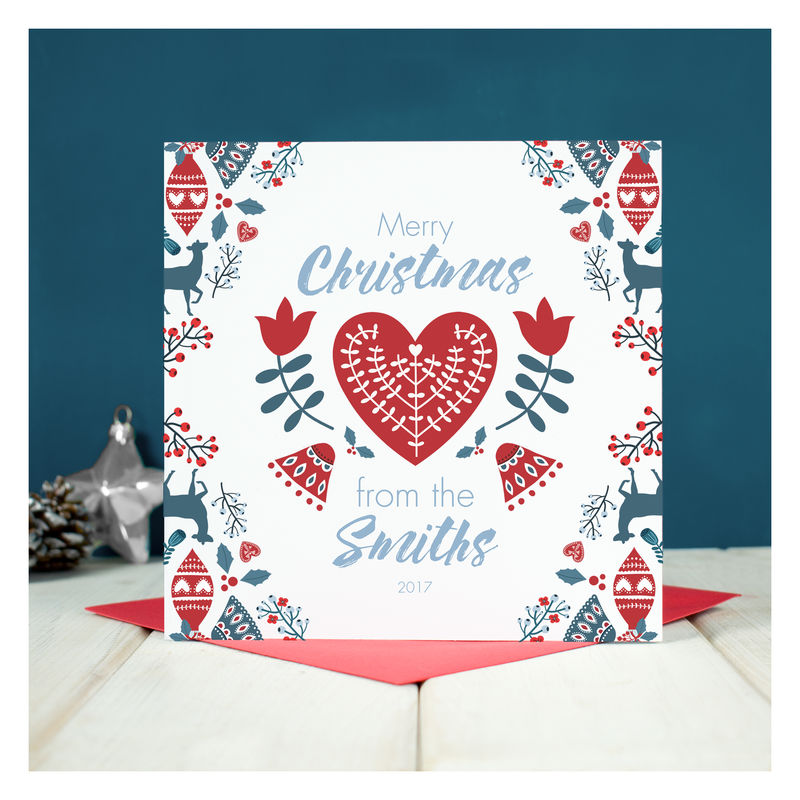 Personalised 'From The Family' Christmas Card - product image