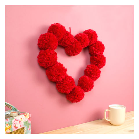 Pom Pom Heart Hanging Wall Decoration - product images  of