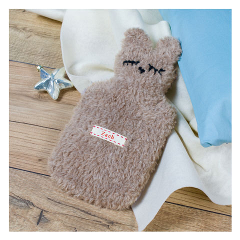 Children's,Personalised,Bear,Mini,Hot,Water,Bottle,Children's Personalised Bear Mini Hot Water Bottle- Mini Hot Water Bottle and Cover -  Personalised Hot Water Bottle - Childrens Hot Water Bottle - Crown Hot Water Bottle - Personalised Hot Water Bottle - Personalized Hot Water Bottle - Blue Hot Water Bot