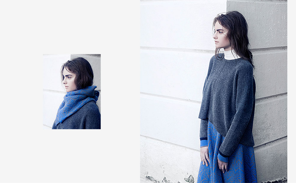 SLOUCH SWEATER WITH CONTRAST COLOURED CUFF