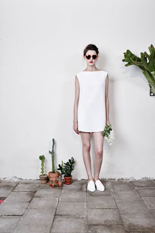 Boat-neck,mini-dress,-,White,Smoky Beige, Cobalt Blue, Blue, Beach blue, Hairy, Autumn, Winter, SS16