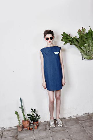 Boat-neck,mini,dress,Smoky Beige, Cobalt Blue, Blue, Beach blue, Hairy, Autumn, Winter, SS16