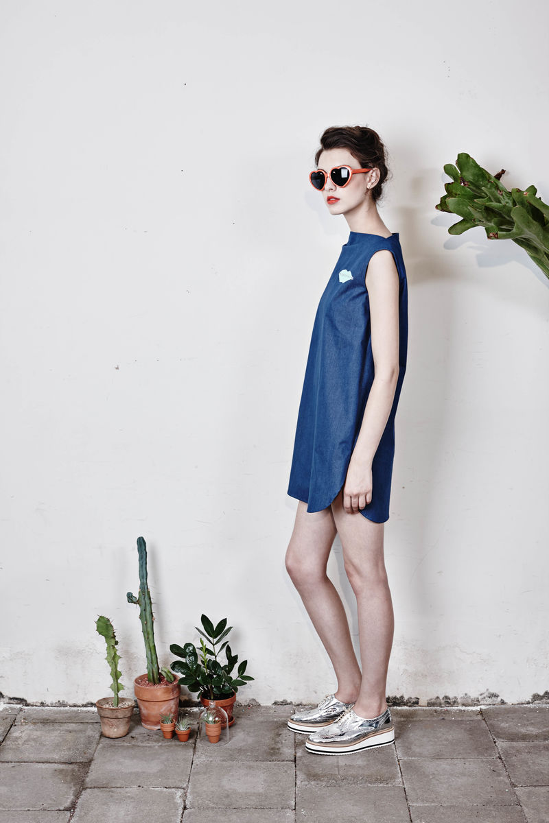 Boat-neck mini dress - product images  of