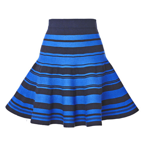 Stripe-knitted,flared,skirt,Flare skirt, stripe skirt, knitted skirt, summer stripe, knitted flare skirt, summer chic