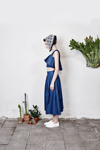 Long,'Lolita',skirts-,Denim,Blue,Smoky Beige, Cobalt Blue, Blue, Beach blue, Hairy, Autumn, Winter, SS16