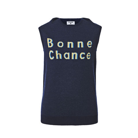 'Bonne,Chance',Vest,w/back,flap-Navy,Smoky Beige, Cobalt Blue, Blue, Beach blue, Hairy, Autumn, Winter, SS16