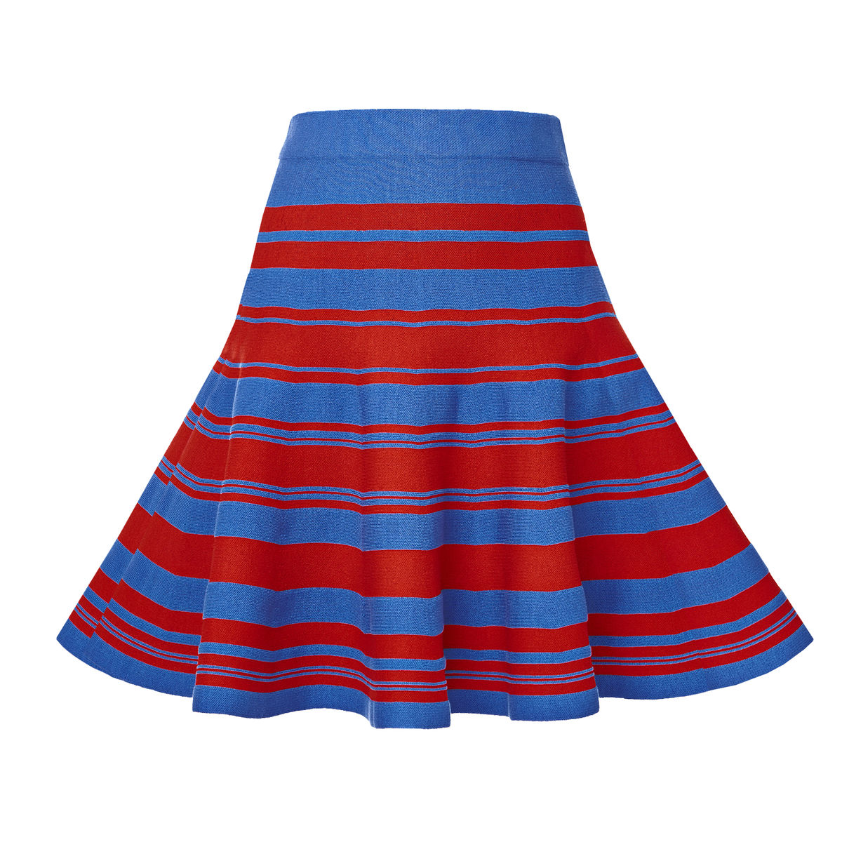 Stripe-knitted flared skirt - product images  of