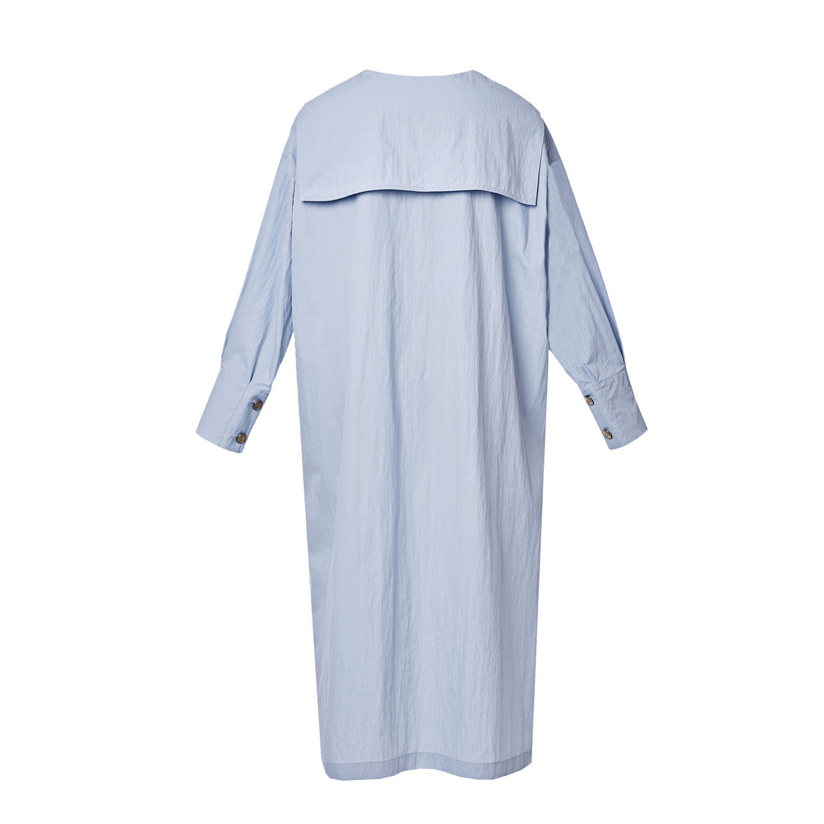 Sailor-collared boxy dress-Powder blue - product images  of