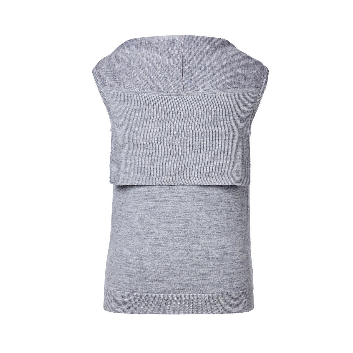 'Bonne Chance' Vest w/back flap -Grey - product images  of