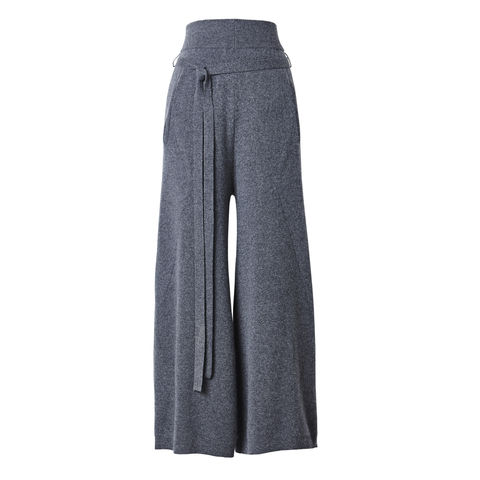 Ribbed,Wide-leg,Cashmere,Culottes,Wide leg culottes, cashmere culottes, ribbed culottes, grey culottes, 100% cashmere, London knitwear, knitwear designer, luxury casual brand, jwon, jwon london